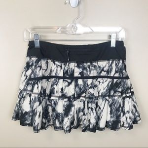 Lululemon black white pacesetter skirt 4